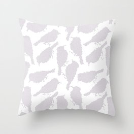 Birds in mosaic effect Throw Pillow