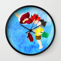 ponyo Wall Clocks featuring Ponyo and Sosuke by foreverwars