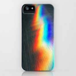 Rainbow lightning iPhone Case