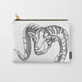 Argali Mountain Sheep Head Doodle Art Carry-All Pouch