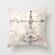 Tarot: V - The Hierophant Throw Pillow