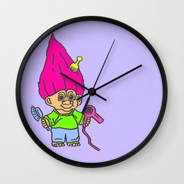 80s Russ Troll Doll Wall Clock