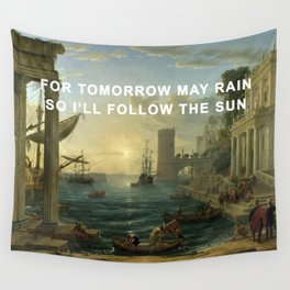 Seaport with the Embarkation of the Sun Wall Tapestry