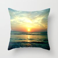 sunrise Throw Pillows featuring Sunrise by THEORY