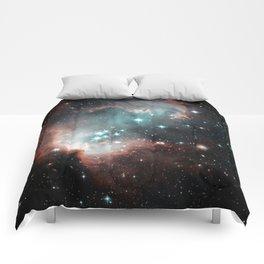 Nebula and stars Comforters