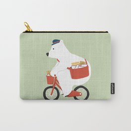 Polar bear postal express Carry-All Pouch