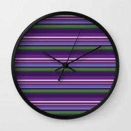 Lavender Bee Stripes Wall Clock