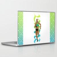run Laptop & iPad Skins featuring Run by Akyanyme
