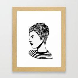 Gamine Jean Framed Art Print