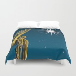 An Angel Came At Christmas Duvet Cover