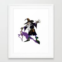 wizard Framed Art Prints featuring Wizard by Noughton