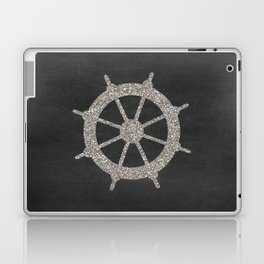 Nautical Silver Wheel Laptop & iPad Skin