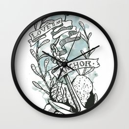 Love is an Anchor Wall Clock