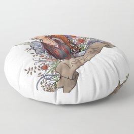 Lady of Light Floor Pillow