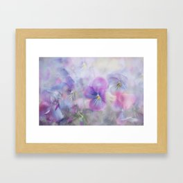 little pansies Framed Art Print