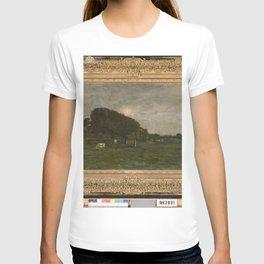 Charles-François Daubigny - Landschap met koeien bij maanlicht T-shirt