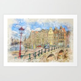 Amsterdam Keizersgracht Art Print