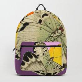 GOLDEN MOON MOTHS ON PUCE & PINK Backpack