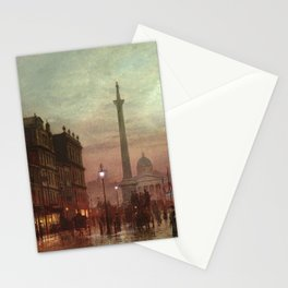 Whitehall at Twilight, Westminster, London, England by Louis H. Grimshaw Stationery Cards