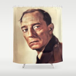 Buster Keaton, Vintage Actor and Comedian Shower Curtain