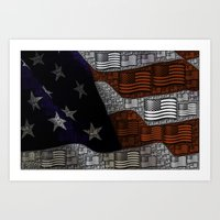 american Art Prints featuring American by Tracy66