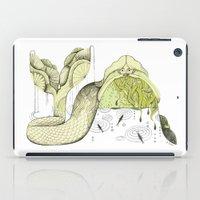 mermaid iPad Cases featuring Mermaid by Julianna Brion ~ Illustration