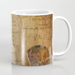Two Hearts are One - Vintage Romantic Steampunk Art Coffee Mug