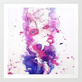 Zombie Woman Art Print