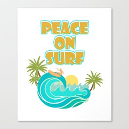 Costume For Surfing Lover. Great Shirt Canvas Print