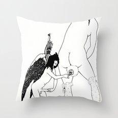 la toilette di Lampito - Aubrey Beardsley Throw Pillow