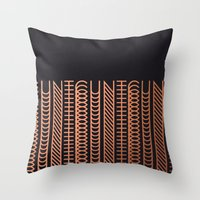 cunt Throw Pillows featuring CUNT by Beatricepl