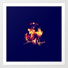 Blue Fire Art Print