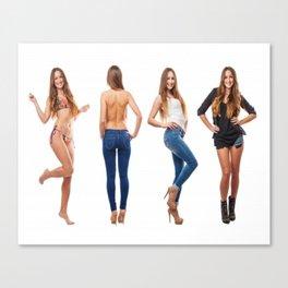 beauty girls Canvas Print