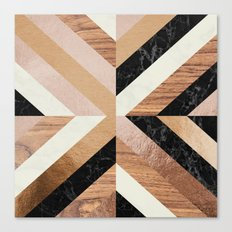 Copper Marble Wood Canvas Print