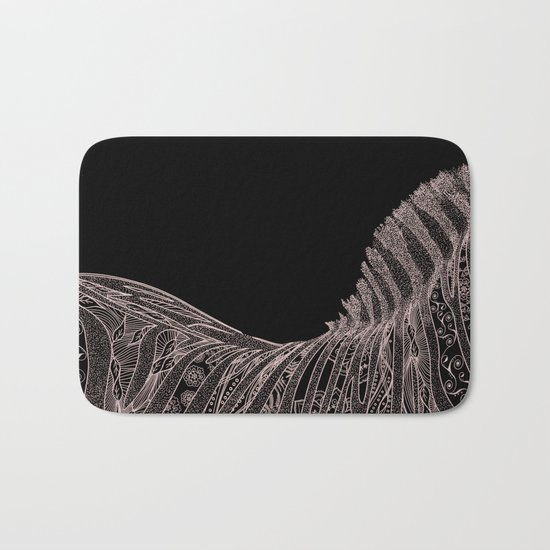 Gorgeous Abstract Zebra Flowers Design Bath Mat