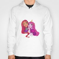 princess bubblegum Hoodies featuring Starfire and Princess Bubblegum by Angie Nasca