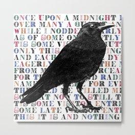 Raven Poem Digital Illustration Edgar Allan Poe Poem Metal Print