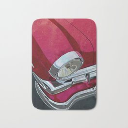 Classic Retro Car Art Series #1 in Gypsy Red Bath Mat