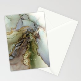Enchanted Tree Roots Abstract Ink Painting Stationery Cards