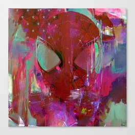 Spider Abstract Man Canvas Print