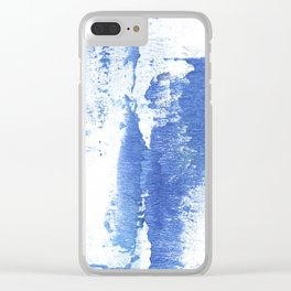 Corn flower abstract Clear iPhone Case