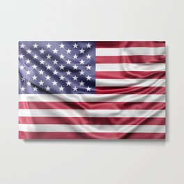 Flag of United States of America Metal Print