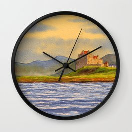 Duart Castle Isle Of Mull Scotland Wall Clock