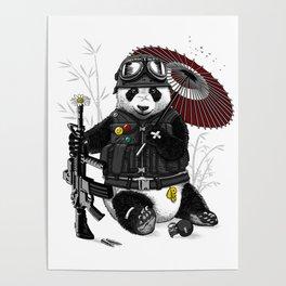 Military Panda Poster