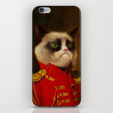 The cat is Grumpy iPhone Skin