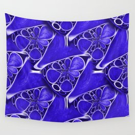 Blue abstraction Wall Tapestry