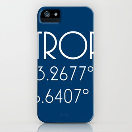 St. Tropez Latitude Longitude iPhone Case