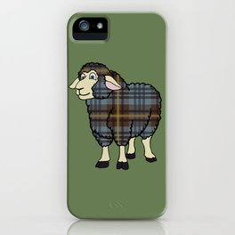 Faded Johnston Tartan Sheep iPhone Case