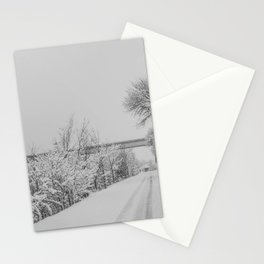 Winter, Missouri River, North Dakota Stationery Cards