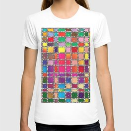 Stained Glass Window Multicolour Pattern T-shirt